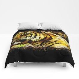 Wild Tiger Artwork Comforters