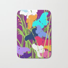 Butterfly Night Bath Mat