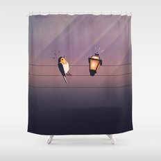 Feeling Wired?! Shower Curtain