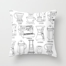 Coffee Brewing Throw Pillow