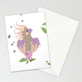 rainy day galah Stationery Cards