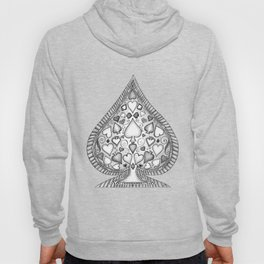 Ace of Spades Black and White Hoody