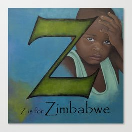 Z is for Zimbabwe Canvas Print