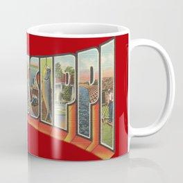 Vintge Big Letter Mississippi Coffee Mug