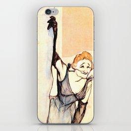 "Henri de Toulouse-Lautrec ""Yvette Gilbert before the curtain"" iPhone Skin"