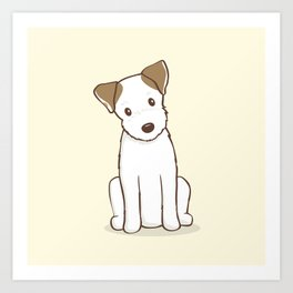 Custom Art Abby the JRT Illustration Art Print