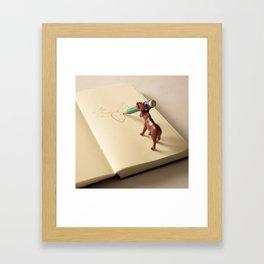 Self portrait of a deer Framed Art Print