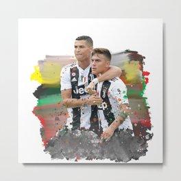 Watercolor Ronaldo and Dybala Metal Print