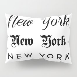 New York City Quote Sign, Digital Download, Calligraphy Text Art, World City Typography Print Pillow Sham