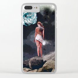 Moon Flower Clear iPhone Case