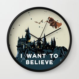 I Want To Believe - Hogwarts Wall Clock