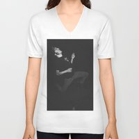 punk rock V-neck T-shirts featuring Punk Rock Karaoke by andradexcobain