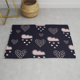 Hearts and Clouds Rug