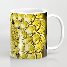 """Gold"" Dahlia Flower Special Edition 1 (Black Back) Coffee Mug"