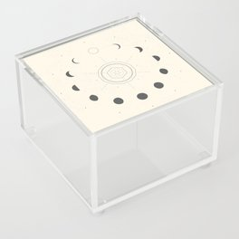 Moon Phases Light Acrylic Box