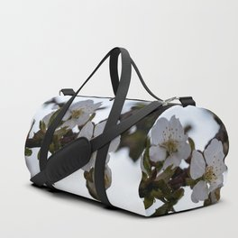 Cherry blossoms on cherry branch Duffle Bag