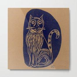 scared cat Metal Print