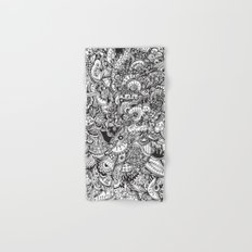 Detailed rectangle, black and white  Hand & Bath Towel