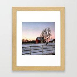 Winter Ranch Framed Art Print