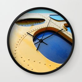 VINTAGE - Cool Vintage Passenger Bus - Yellow Wall Clock