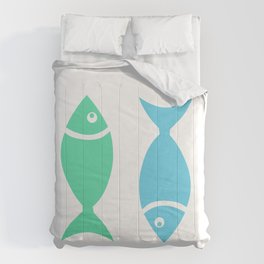Two Sleeping Fishes Comforters