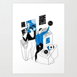 Sensitive Bore Art Print