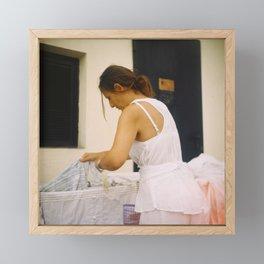 White Framed Mini Art Print