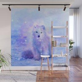 Arctic iceland fox Wall Mural