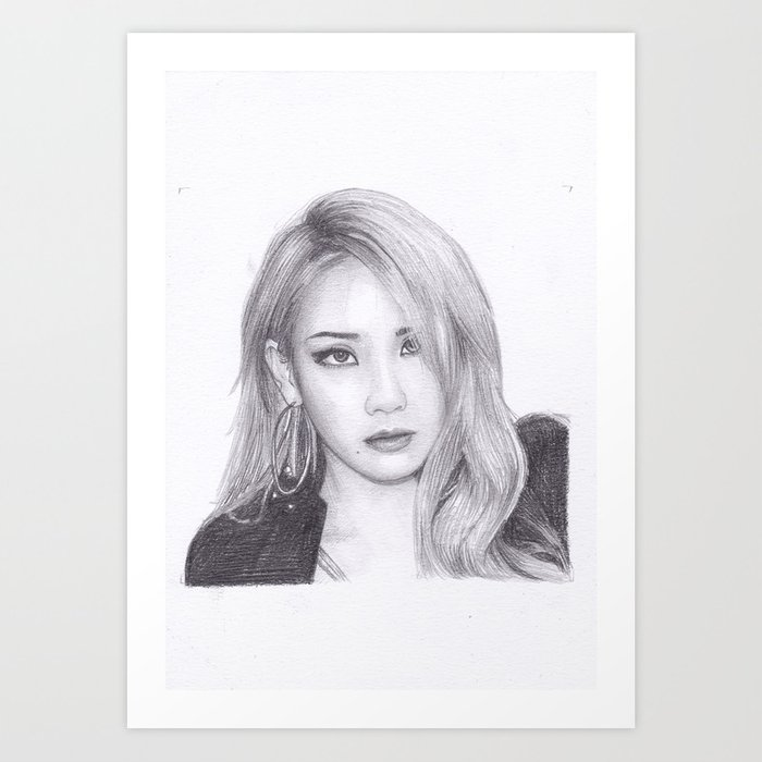 Chaelin Lee Cl From 2ne1 Art Print By Moii Arts Society6