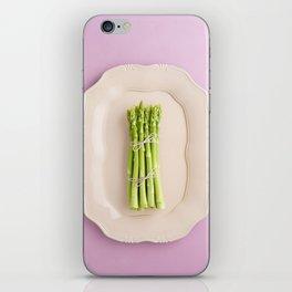 Fresh green asparagus iPhone Skin