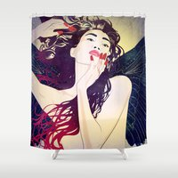 pagan Shower Curtains featuring Valkyrie II by Stevyn Llewellyn