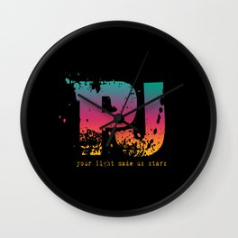PJ - Your Light Made Us Stars Wall Clock