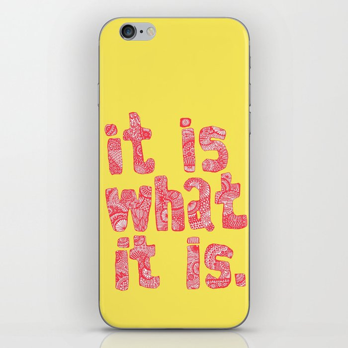 What It Is Yellow iPhone Skin