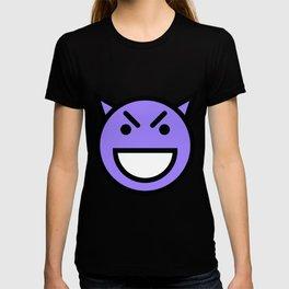 Smiley Face   Laughing Devil Face Blue T-shirt