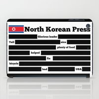 korea iPad Cases featuring North Korea News Paper by pollylitical