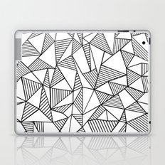 Abstraction Lines Black on White Laptop & iPad Skin