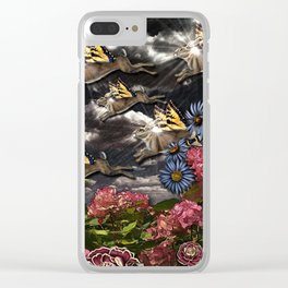 Lightning Bunny Season Clear iPhone Case
