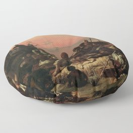 François-Auguste Biard - The Slave Trade (Slaves on the West Coast of Africa) Floor Pillow