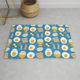 Kawaii Eggs For Breakfast Rug