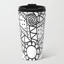 Doodle Art Flowers - Pathways 2 Travel Mug