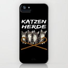 Cat Herd Of Cats Cat Breeders Motif iPhone Case