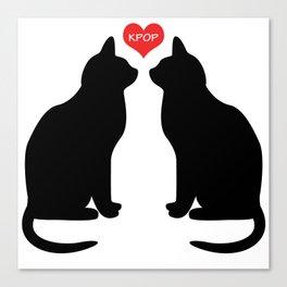 KPOP Cats Love Canvas Print