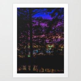 Sunset Thru The Trees No2 Art Print