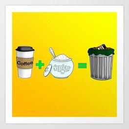 Coffee Math Art Print