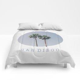SAN DIEGO / palm trees / california summer Comforters