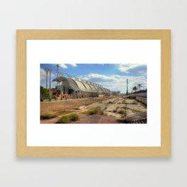 spaceport ruins Framed Art Print