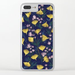 Ginkgo Blossoms Clear iPhone Case