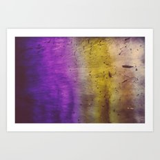 Purple and Yellow Frozen in Time Art Print