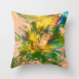Springtime Color Explosion Throw Pillow