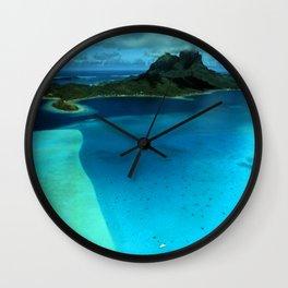 Bora Bora Lagoon Aerial Wall Clock